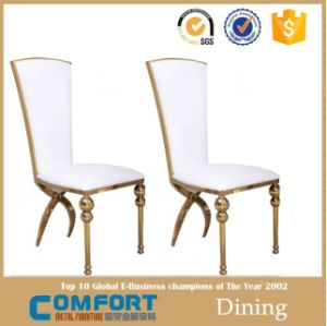 Modern Round Gold Stainless Steel Furniture Wedding Chair pictures & photos