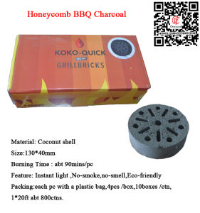 Honeycomb Coconut Shell Instant Light BBQ Charcoal Briquette pictures & photos