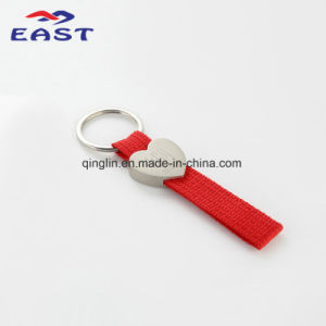 Customized Multicolor Metal & Weave Polyester Key Chain pictures & photos
