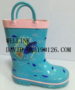 Cute Cartoon Print Waterproof PVC Rainboots pictures & photos
