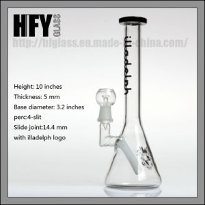 Hfy Glass Glass Water Smoking Pipe Illadelph Mini Beaker Oil Rig DAB Rigs Pyrex Glass Smoking Pipe pictures & photos