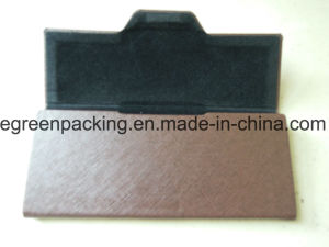 Coffee PU Covered Fold Glasses Case (EH43) pictures & photos