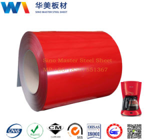 Red Color PCM Coated Steel Sheet for Refrigerator Parts pictures & photos
