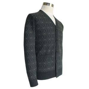 Bn1653 Men′s Yak and Wool Blended Luxury V Neck Knitted Cardigan pictures & photos