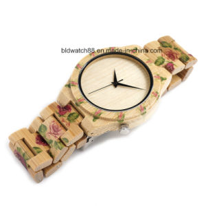 2017 Newest Womens Bamboo Wooden Wristwatch for Promotion Gift pictures & photos