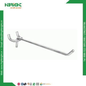 Single Line Metal Wire Pegboard Hooks pictures & photos