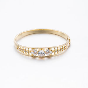 2017 Spring New Style Rhinestone Zircon Rose Gold Bangle pictures & photos