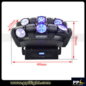 LED Spider 6X12W Infinited Rotating Head Moving Stage Light pictures & photos
