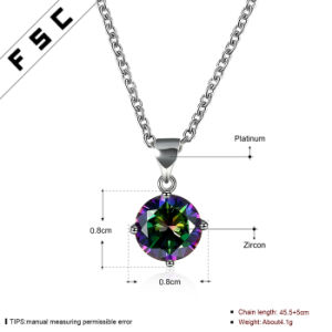 Women Newly Design Fashion Colorful Pendant Necklace as Promotion Gift pictures & photos