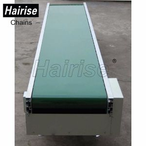 PVC/PU Food Grid Conveyor Belt System with Sidewall and Cleats pictures & photos