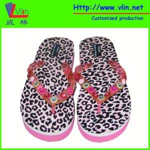 Button Bead Strap EVA Ladies′ Flip Flops