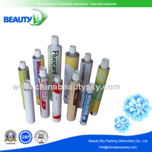 Pharmacetical Packaging Medicinal Ointment Aluminum Container Tube with Standard Plastic Cap pictures & photos