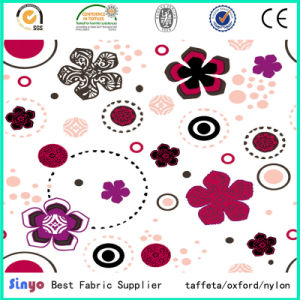 PU PVC Coated 500d Flower Printed Fabric for Backbags pictures & photos
