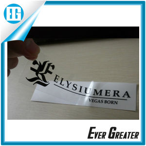 Customized Die Cut Private PVC Bumper Label for Car Window pictures & photos