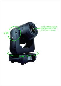 PRO Lighting 250W Moving Head LED Spot Stage Lighting pictures & photos