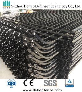 Ce/SGS Interpon Coated Galvanized Curved Picket Security Fence pictures & photos