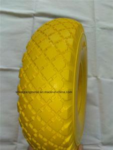 Heavy Duty Small Solid Flat Free Wheelbarrow Wheel PU Foam Wagon Wheel 260X85 3.00-4 pictures & photos