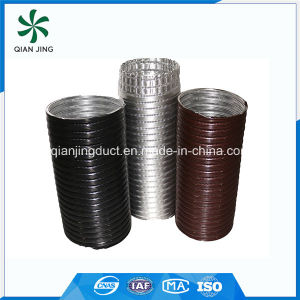 Black Semi-Rigid Aluminum Flexible Duct for Industrial HVAC Systems pictures & photos