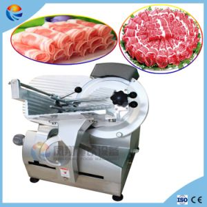 Table Type Electric Automatic Frozen/Chilled Deli Meat Salami Prosciutto Slicer pictures & photos