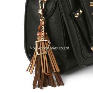 State of Arkansas Charm Faux Leather Tassel Key Chain Ornament Gift pictures & photos
