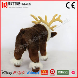 Christmas Gift Realistic Stuffed Reindeer Plush Animal Soft Reindeer Toy pictures & photos