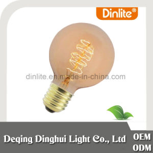 China manufacturer antique globe 80mm tungsten filament bulb pictures & photos