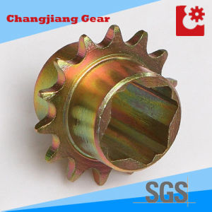 Hobbing & Carburizing Yellow Zinc Sprocket with ISO606 Approved pictures & photos