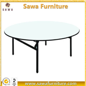 Durable 6FT Round Folding Table for Wedding Banquet pictures & photos