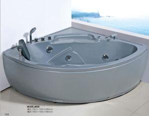 Luxury Acrylic Corner Whirlpool Jet Bathtub pictures & photos