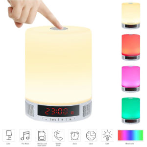Time Display TF Card Speaker Phone Alarm Clock All in 1 LED Light Bluetooth Speaker pictures & photos