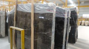 Popular Style Customized Black St Laurent Slab/Tile for Kitchen/Countertop/Vanity Top pictures & photos