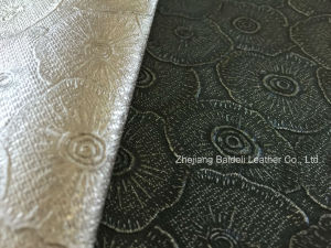 Fire Resistance PVC Leather for Furniture Upholstery and Interior Soft Decoration pictures & photos