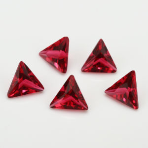 China Triangle Red Glass Synthetic Gemstone pictures & photos