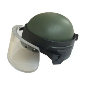 Army Kevlar Bulletproof Helmet with Bulletproof Visor pictures & photos