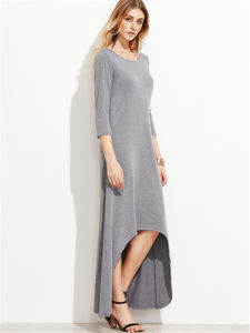 Contrast Dolman Sleeve Cocoon Long Maxi Dress pictures & photos