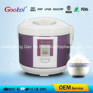 Visible Lid Handle Deluxe Rice Cooker with Purple Body Shell pictures & photos