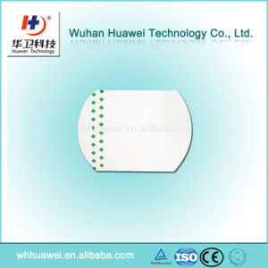 Waterproof PU Island Wound Dressing Surgical IV Catheter Fixation Dressing pictures & photos