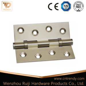 2 Ball Bearing Flat Brass Hinges for Wooden Door Hardware pictures & photos