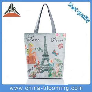 Fashion Reusable Canvas Printing Shoulder Bag Shopping Tote Bag pictures & photos