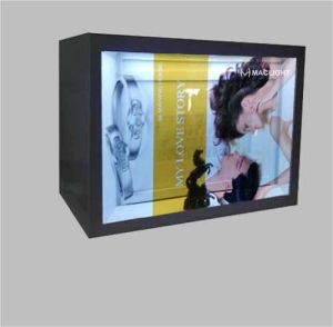 19′′ Transparent LCD Display Cabinet with 1680X1050 Resolution pictures & photos