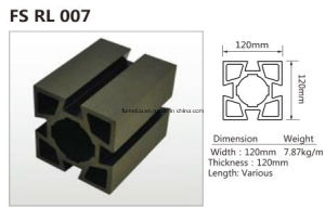 WPC Garden Floor PE Composite Wood Fencing Streamside WPC Railing K-Nrl- 03 pictures & photos