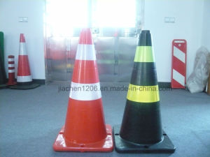 HDPE LED Fixed Two Color PE 750mm Traffic Cone pictures & photos