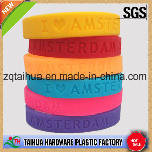 Laser Engraved Silicone Wristband with Filled Any Colour pictures & photos