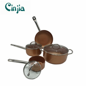 New 7PCS Metal Copper Aluminum Cookware pictures & photos