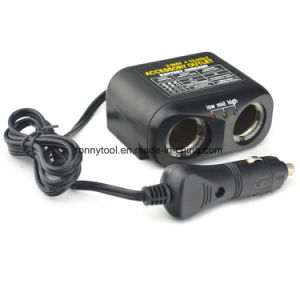 DC12V 2-Socket Cigarette Lighter Adapter Socket Splitter Separate pictures & photos