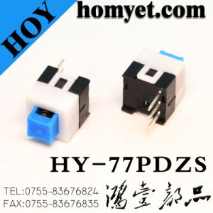 7*7mm Self-Locking Switch Push Button Switch with DIP Type pictures & photos