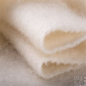 Mohair and Wool Mixed Wool Fabrics with Soft Hand in White