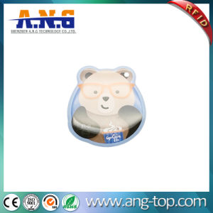 Bear Shape Serial Number Printed NFC Epoxy Dog Tag pictures & photos
