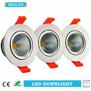 Dimmable LED COB Downlight 7W Cool White Aluminum Sand Silver pictures & photos