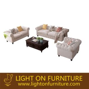 Living Room American Style Fabric Sofas (F721) pictures & photos